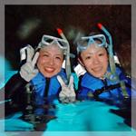 青の洞窟シュノーケリング&体験ダイビング セットプラン