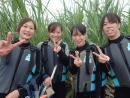 青の洞窟シュノーケリング 由紗さん・真理子さん・礼奈さん・知子さん